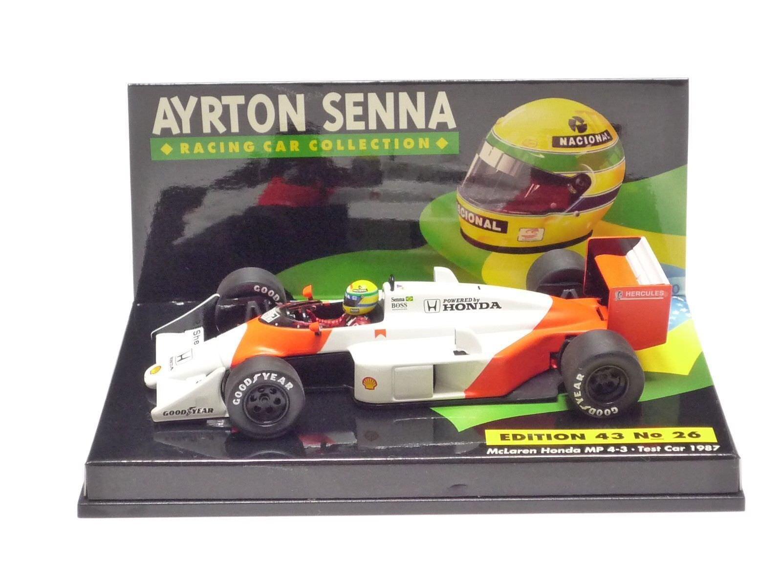 Minichamps 1 43 McLaren Honda MP4 3 test car 1987 Ayrton Senna collection n.26