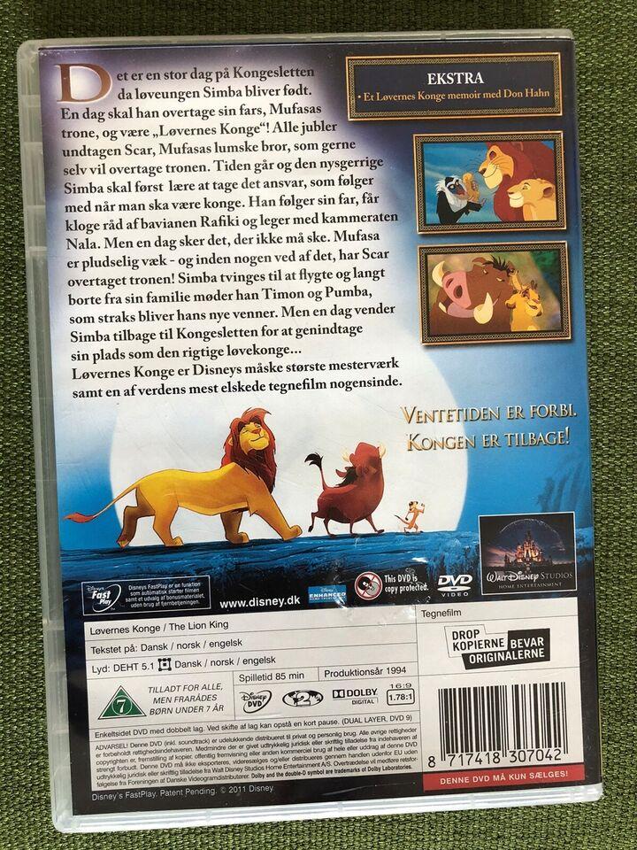 Løvernes Konge, DVD, tegnefilm