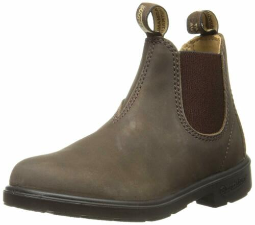 Blundstone KIDS 569 ELASTIC SIDED V CUT CHELSEA Boots Rustic Brown New