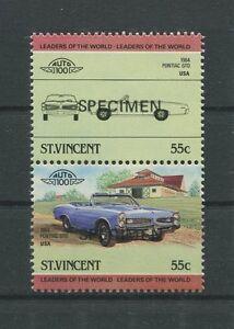 Saint-vincent Voiture Cars Usa Pontiac Gto Specimen Motif Rare! D6615-afficher Le Titre D'origine
