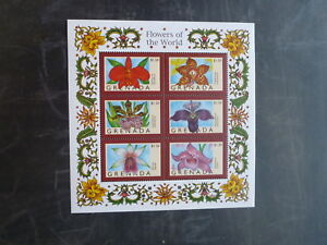 1998-GRENADA-FLOWERS-OF-THE-WORLD-ORCHID-6-STAMP-MINI-SHEET-MNH-1