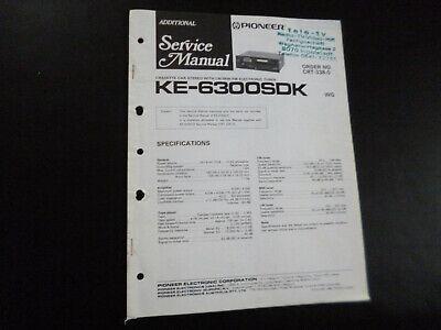 Dynamisch Original Service Manual Schaltplan Pioneer Ke-6300sdk 100% Garantie
