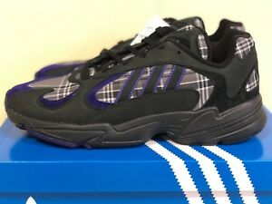 Details about Adidas Yung 1 PLAID Core Black Purple EF3965 Yung 1 Mens Running Shoes Sneakers