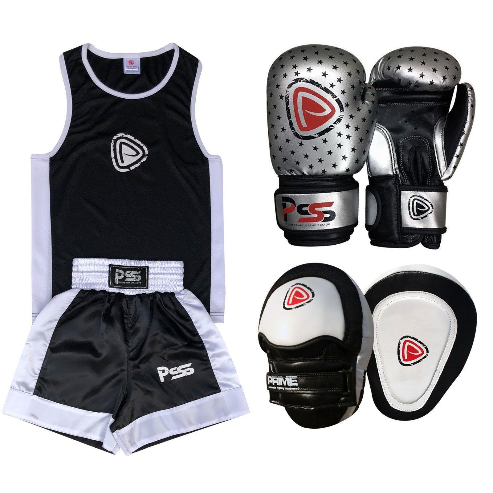 Kids boxing SET 3 Pcs Uniform Boxhands 1010 Focus pad 1104 (SET-17)