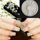 New White Pearl Nail Art Stone Different Size Wheel Rhinestones Beads Decoration