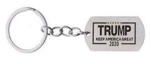 Trump-2020-Stainless-Steel-Key-Ring-x-2-Keep-America-Great-NEW
