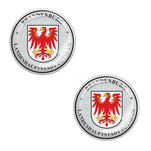 2 x 3D Gel Domed Stickers Decals Potsdam Stadt Number Plate Seal Resin Badge G 4