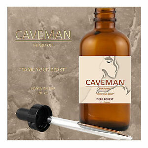 Aftershave & Pre-shave Hand Crafted Deep Forest Beard Oil Conditioner 2oz By Caveman® Beard Care Shave