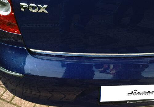 VW FOX  Typ 5Z Chrom Zierleiste 3M Tuning Heckleiste Kantenschutz