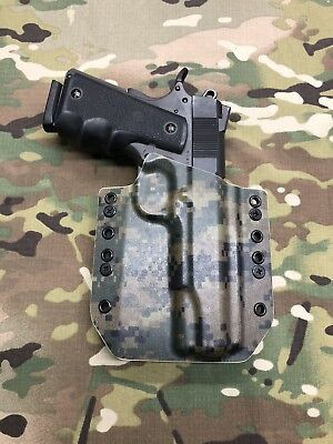 """Holsters, Belts & Pouches Energetic Woodland Digital Kydex Holster For Traditional 5"""" 1911 No Rail Attractive Appearance Hunting"""