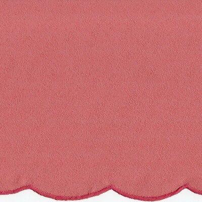 Tischdecke  rund 170 cm altrosa Festonkante Jacquard pflegeleicht