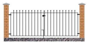 Malaca-Ball-Top-Driveway-Gates-2134mm-to-3658mm-GAP-x-915mm-H-Wrought-Iron-Metal