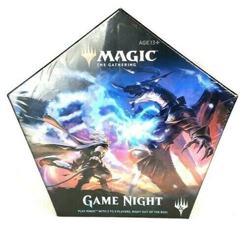 MAGIC Game Night Mtg FACTORY SEALED BOX w// 5 Deck Set Packs CORE 2019 Ravnica