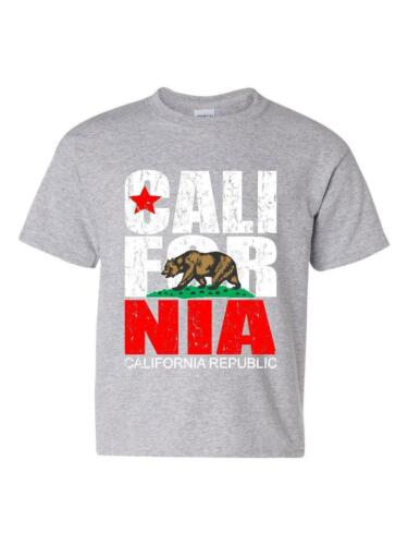 California T-Shirt California Republic Vintage  Unisex Youth Shirts