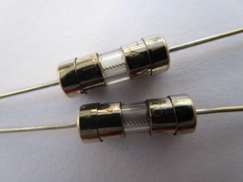 100 Pcs 3.6x10mm F10A 10amp 250 V Miniature Verre Fusible Fast Blow fine fil nouveau