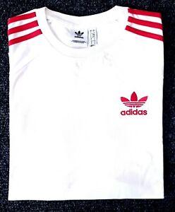 Adidas-Originals-Mens-Trefoil-California-Tees-Crew-Neck-T-Shirt-Maroon-White-Red