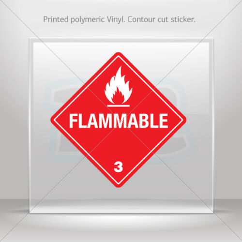 Flammable Vehicle st5 X884X Decals Decal Hazard Classification Class 3