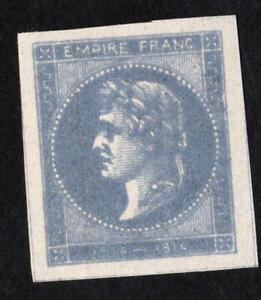 ESSAI-ancien-CINDERILLA-034-EMPIRE-FRANC-1804-1814-034-couleur-BLEU-LAITEUX