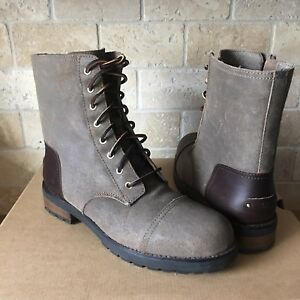 944660668ce Details about UGG Kilmer Dove Water-resistant Leather Combat Short Boots  Size 10 Womens