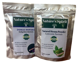 Indigo-Powder-amp-Henna-for-Natural-Black-Hair-Dye-100-Pure-2-x-100g-per-sale