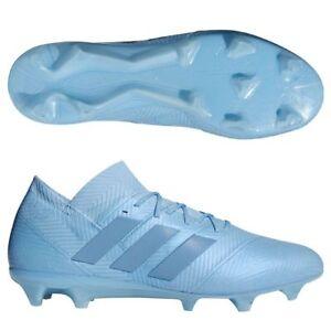 2a78063db147 Image is loading adidas-Nemeziz-Messi-18-1-FG-Blue-Football-