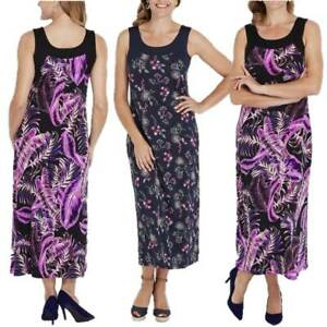 MILLERS-Maxi-Dress-Plus-Size-12-14-16-18-20-22-Navy-Blue-Purple-Floral-Long