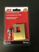 Ace Hardware 2 3/8 In. 60mm Jimmy Proof Solid Brass Lock W/2 Keys 5485008
