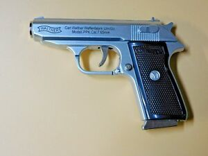 Details about Silver Special Walther PPK Gun Shape Jet Torch Lighter With  Spring Knife Clip