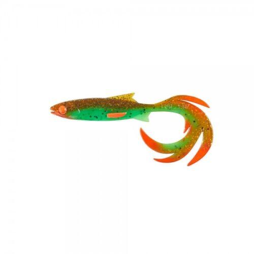 Balzer Shirasu Reptile Shad UV Booster 110mm 11cm Chartreuse Motoroil 13674511