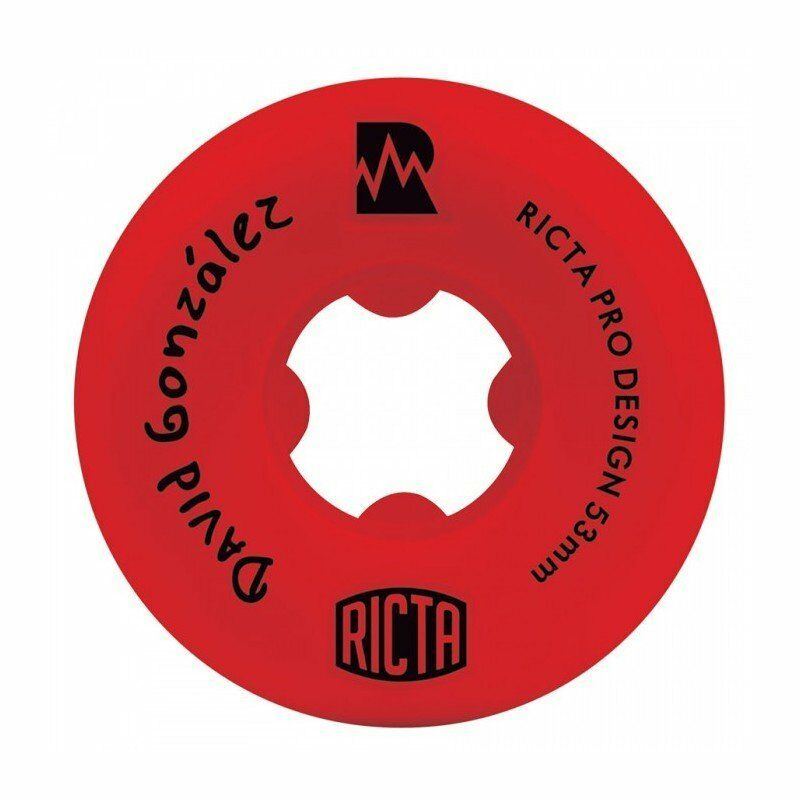 RICTA WHEELS Skateboard Rollen David Gonzalez Pro NRG Set, 53 mm, 81b ROT