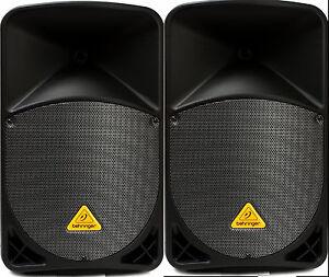 (2) Comme N E W Behringer Eurolive B112w 1000 W Bluetooth-afficher Le Titre D'origine Valeur Formidable