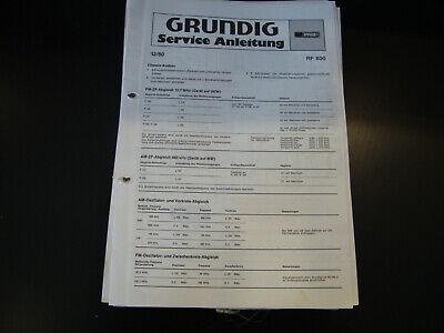 100% Wahr Original Service Manual Grundig Rf 800