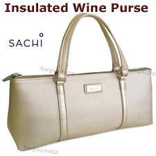 Item 3 Sachi Wine Bottle Insulated Cooler Bag Tote Carrier Purse Handbag Champagne Gold