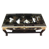 Mother Of Pearl Oriental Furniture Black Coffee Table