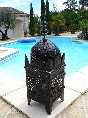 lanterne Marocaine 65 cm lampe lustre bougeoir bougie applique photophore