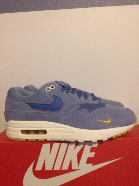Nike Air Max 1 Premium Shoes Work Blue Mountain Blue