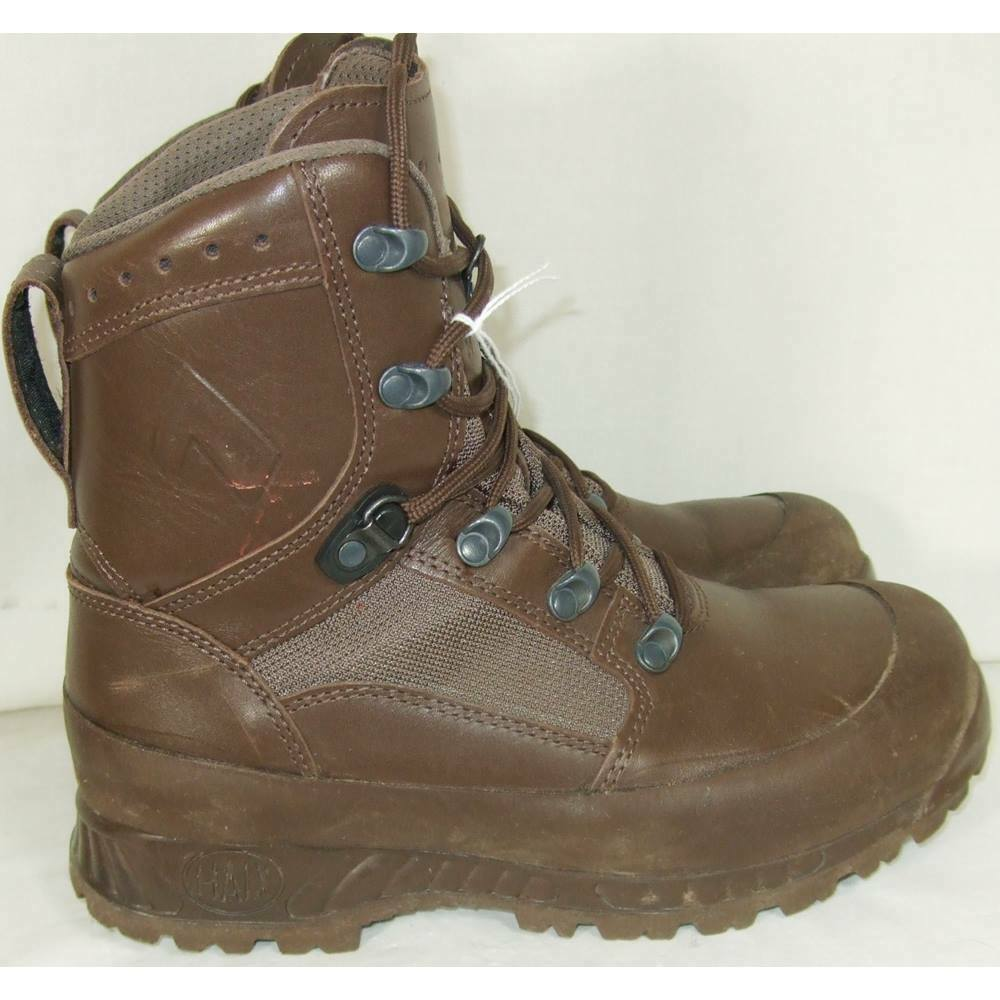 HAIX BRITISH BROWN COMBAT BOOTS HIGH LIABILITY GORE-TEX LINED