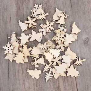 50Pcs-Wood-Snowflake-Xmas-Wedding-Tree-Hanging-Pendant-Ornament-Christmas-Decor