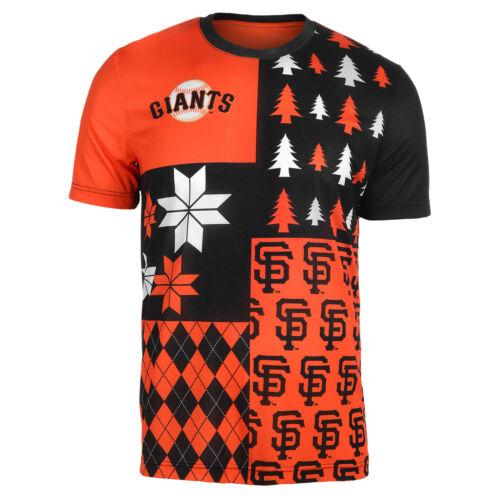 FOCO MLB Men/'s San Francisco Giants Busy Block Ugly Crew Neck Tee