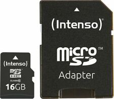 Artikelbild Intenso Micro SD Card 16GB Class 10 inkl. SD Adapter Speicherkarte