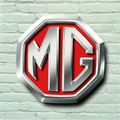 MG LOGO 2FT LARGE GARAGE SIGN WALL PLAQUE CLASSIC CAR BADGE TURBO MOTORSPORT
