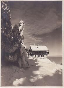 A) Foto Theresiahütte am Jauerling um 1935 im Winter (EB 633) - Altenmarkt-Thenneberg, Österreich - A) Foto Theresiahütte am Jauerling um 1935 im Winter (EB 633) - Altenmarkt-Thenneberg, Österreich