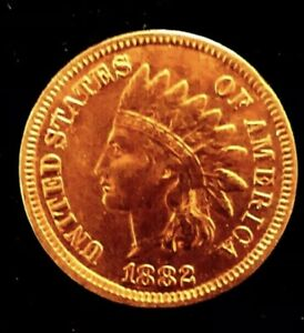 MAKE-A-387-OFFER-1882-UNC-INDIAN-HEAD-PENNY-MS-PL-BU-RED-LIBERTY-4-DIAMONDS