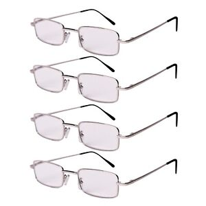 der Verkauf von Schuhen professionelles Design offiziell Details zu FILTRAL Lesebrille Sehhilfe Lesehilfe Brille Metall Silber 4er  Set Dioptrin +3.0