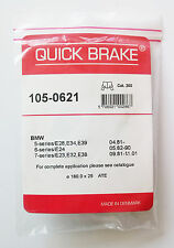 QUICK brake 105-0621 Kit Accessori,parcheggio ganasce freno BMW 5 E28 E34 E39 7
