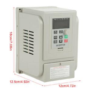 1.5KW 220V 8A 2HP Single To Three Phase Variable Frequency Drive Inverter VFD