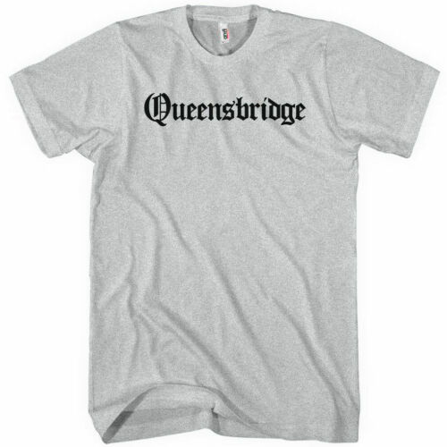 Queens New York City NYC 718 NEW XS-4XL Gothic QUEENSBRIDGE T-shirt