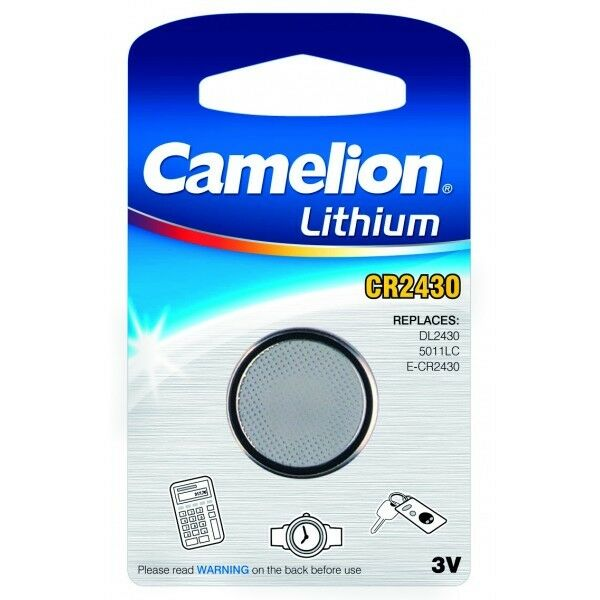 Piles boutons CR2430 3V Lithium Camelion -  Expédition rapide et gratuite