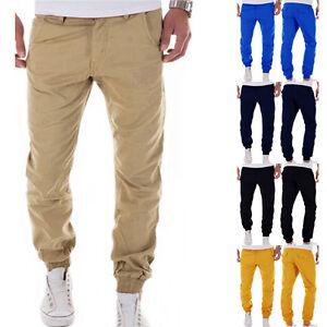 Hombre-Pantalones-Chinos-Estilo-Arabe-Pantalon-Largo-Informal-FOOTING-de-chandal