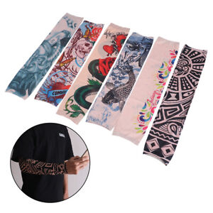 Tattoo-Cooling-Arm-Sleeves-Cover-Basketball-Golf-Fishing-Sport-UV-Sun-ProtectiBB